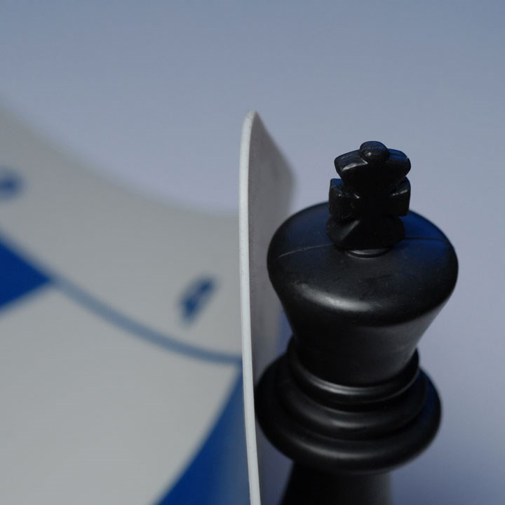 Ultimate Tournament Chess Board Silicone With Blue