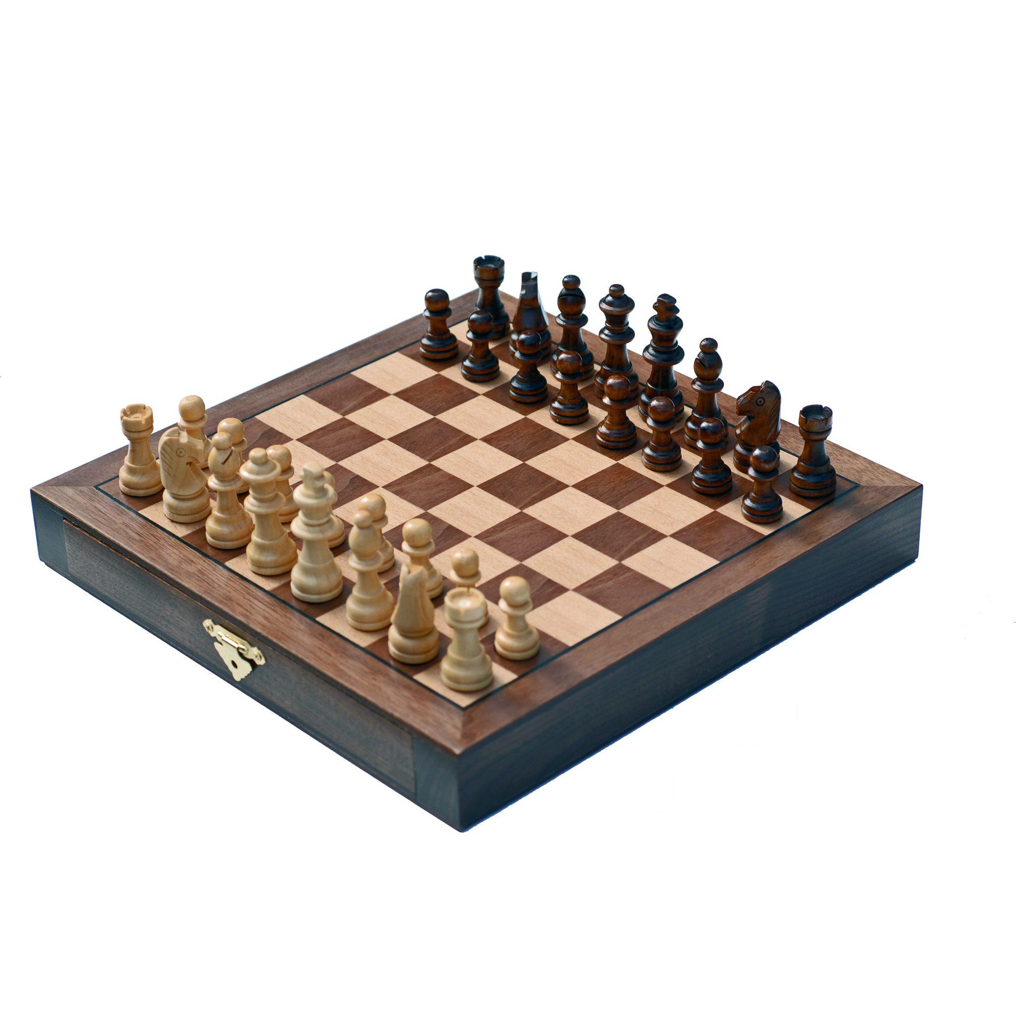 Travel Walnut Wood Chess Set Wood Expressions