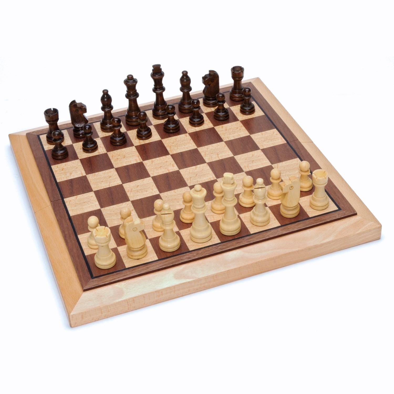 Classic Folding Chess Set Wood Board In Wood