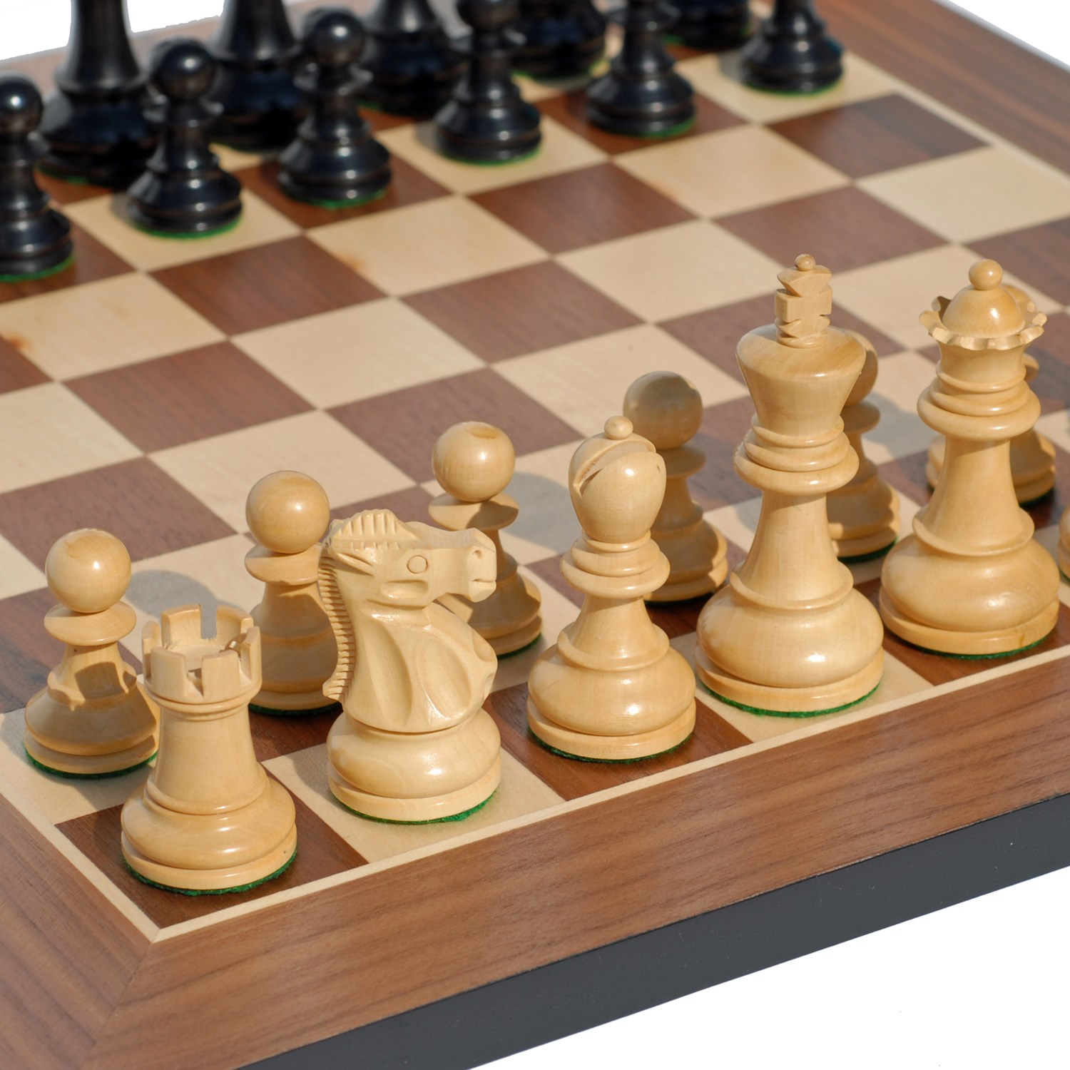 Staunton Chess Set Weighted Pieces Amp Black Stained