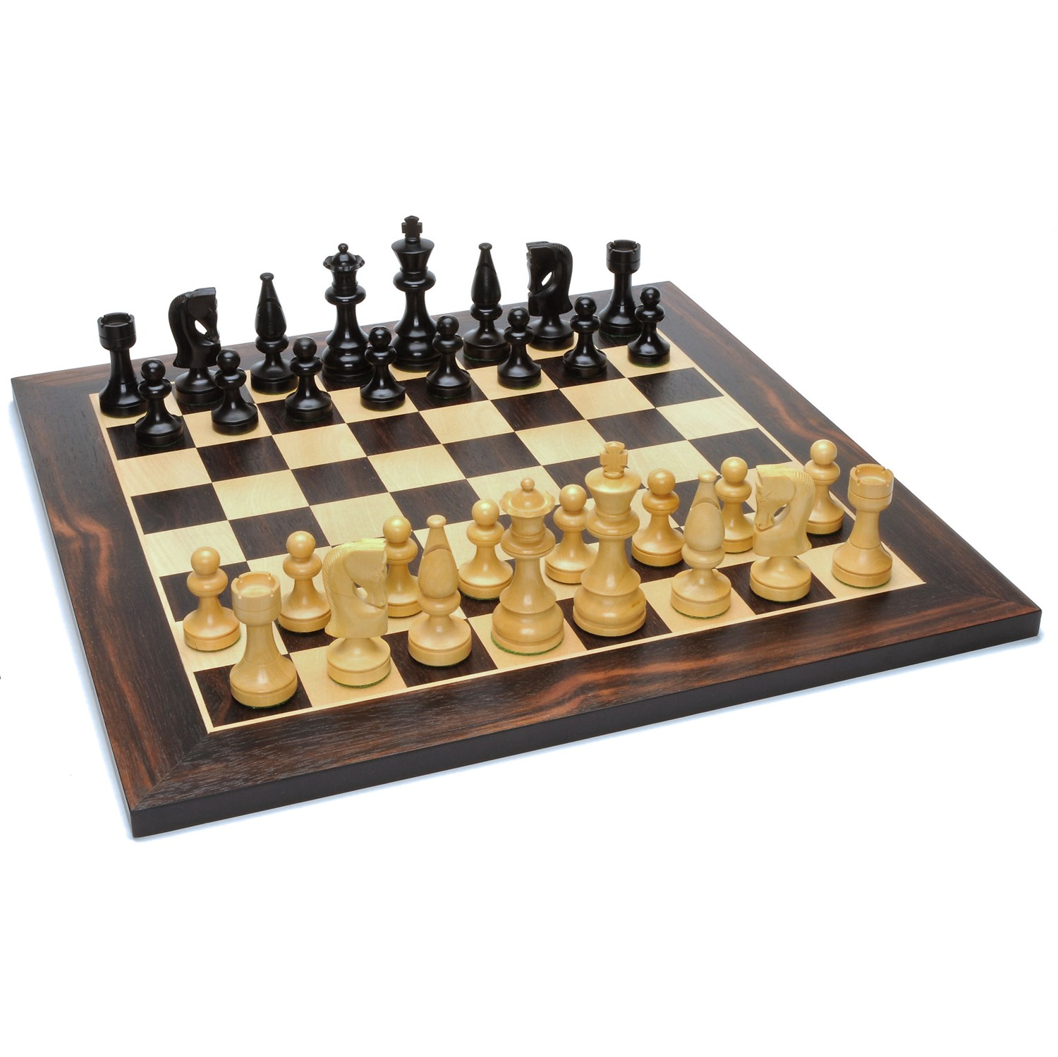 Grand Russian Style Chess Set Weighted Pieces Black