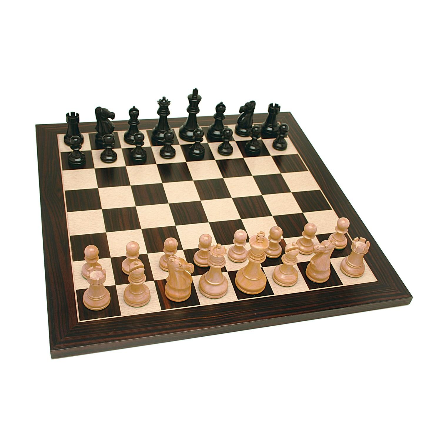 Grand Jacques Style Chess Set Weighted Pieces Black