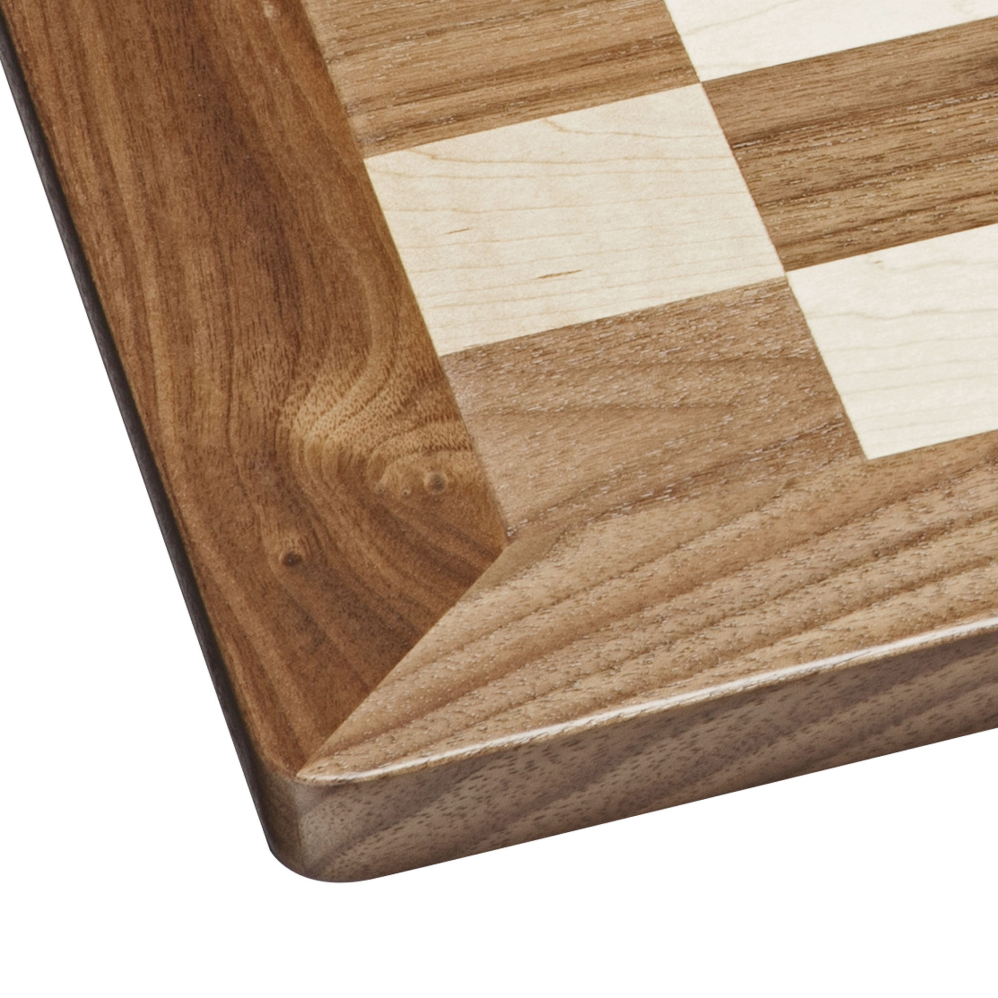 Grand English Chess Set Weighted Pieces With Solid Maple