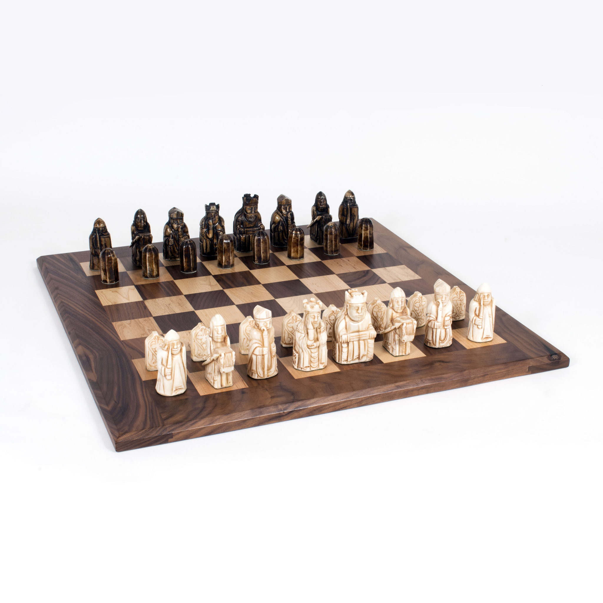 Isle of lewis antiquity chess set 23 inch wood expressions - Lewis chessmen set ...