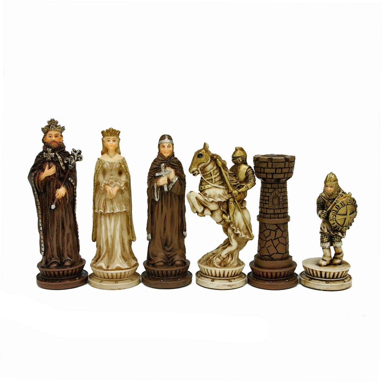 Medieval Chess Set Handpainted Pieces Amp Walnut Root