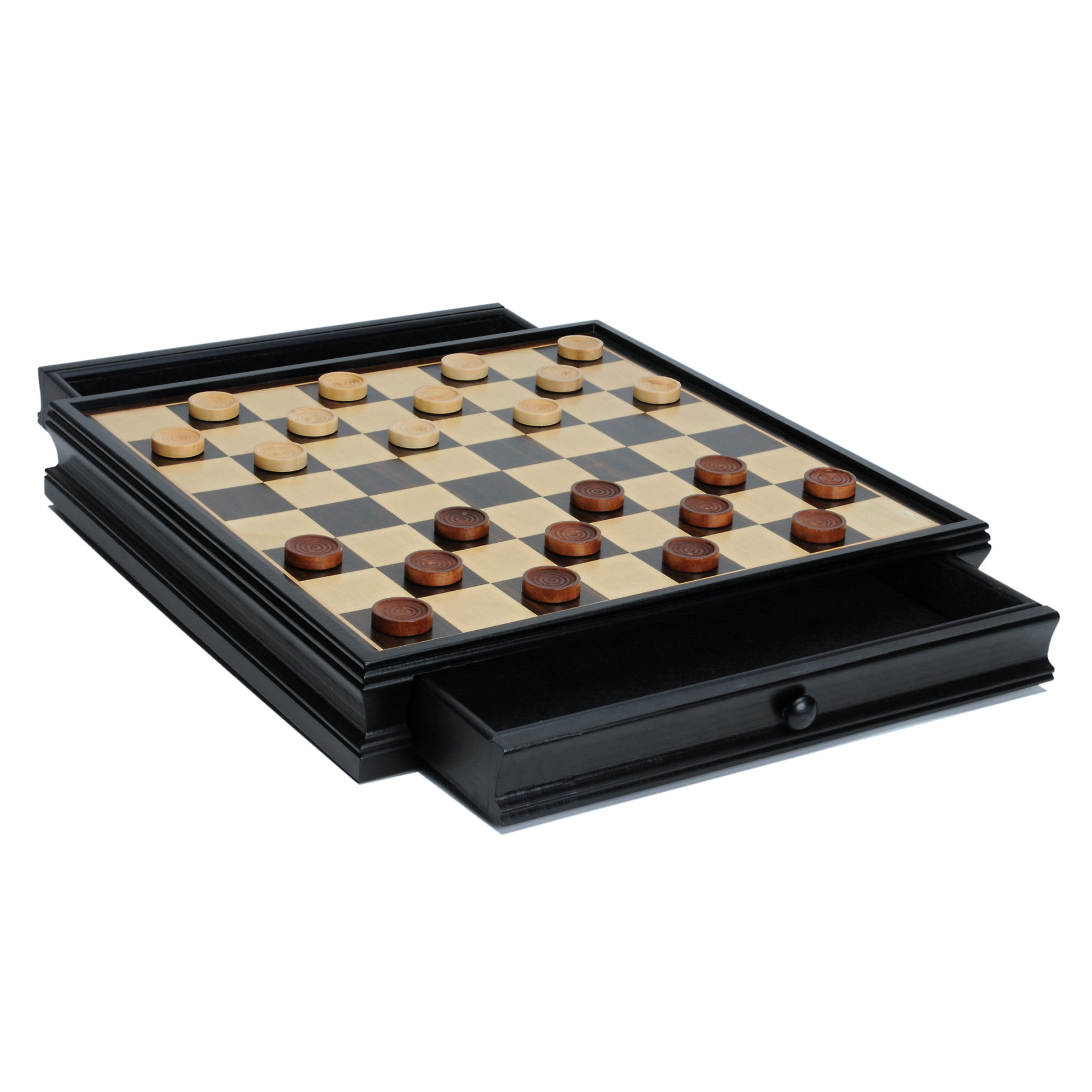 Modern Chess Amp Checkers Game Set Weighted Chessmen