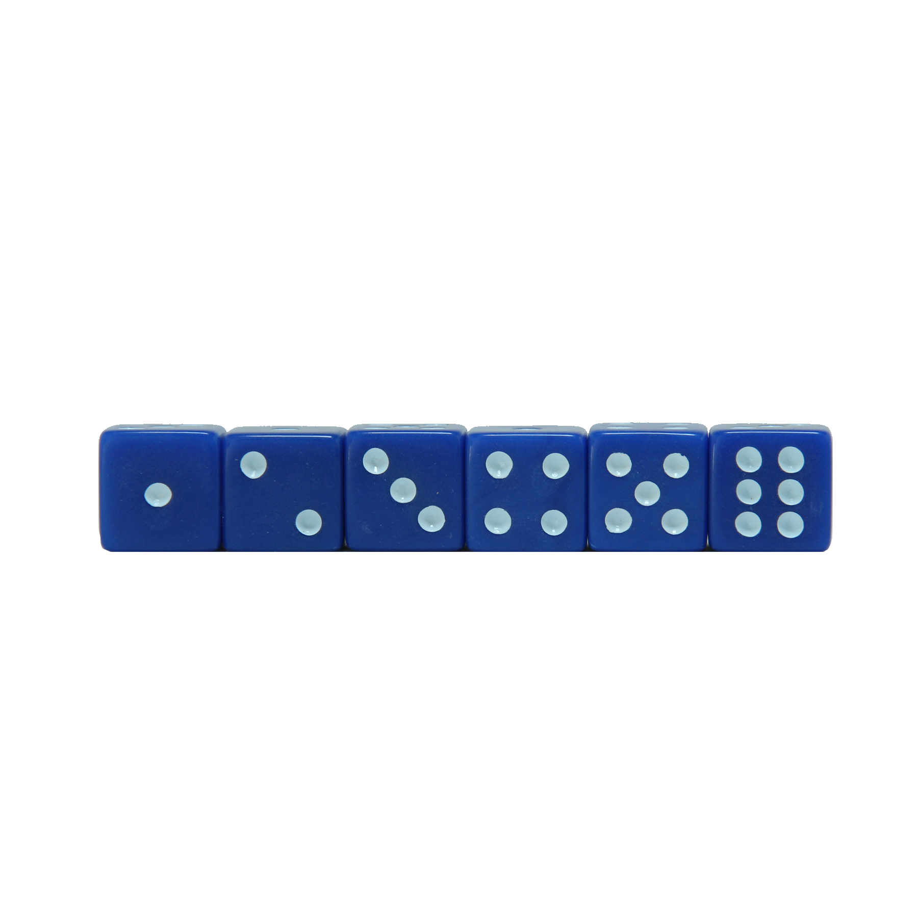 Blue Square Cornered Dice 100 Pack Wood Expressions