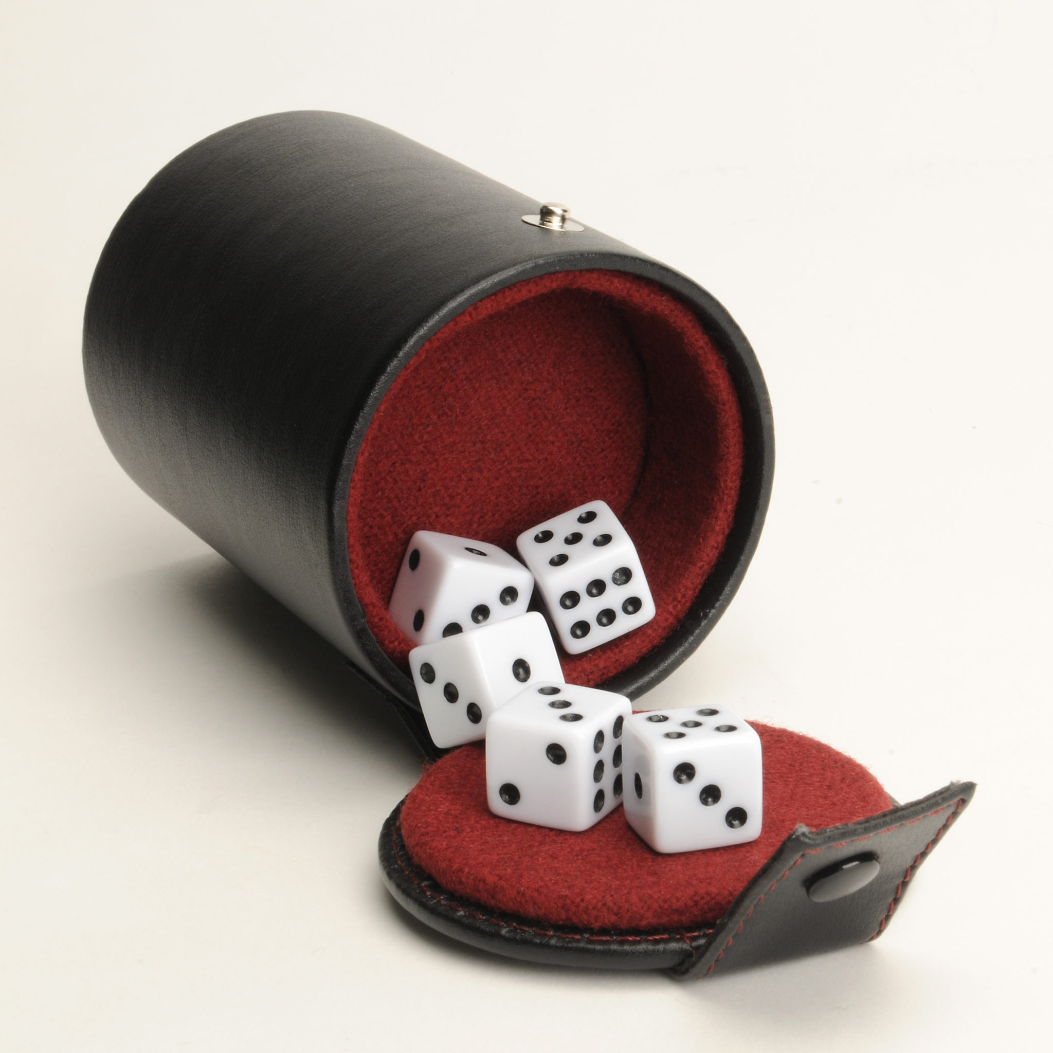 Black Vinyl Dice Cup With Dice And Storage  Wood Expressions - Vinyl dice cup