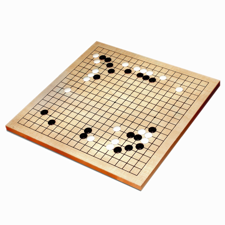 Wooden Go Game Best Beginner Set 12 Inch Board Wood