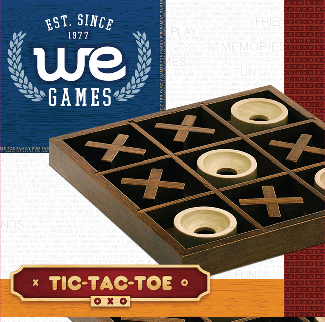 We Games Tic Tac Toe Wooden Board Game Wood Expressions