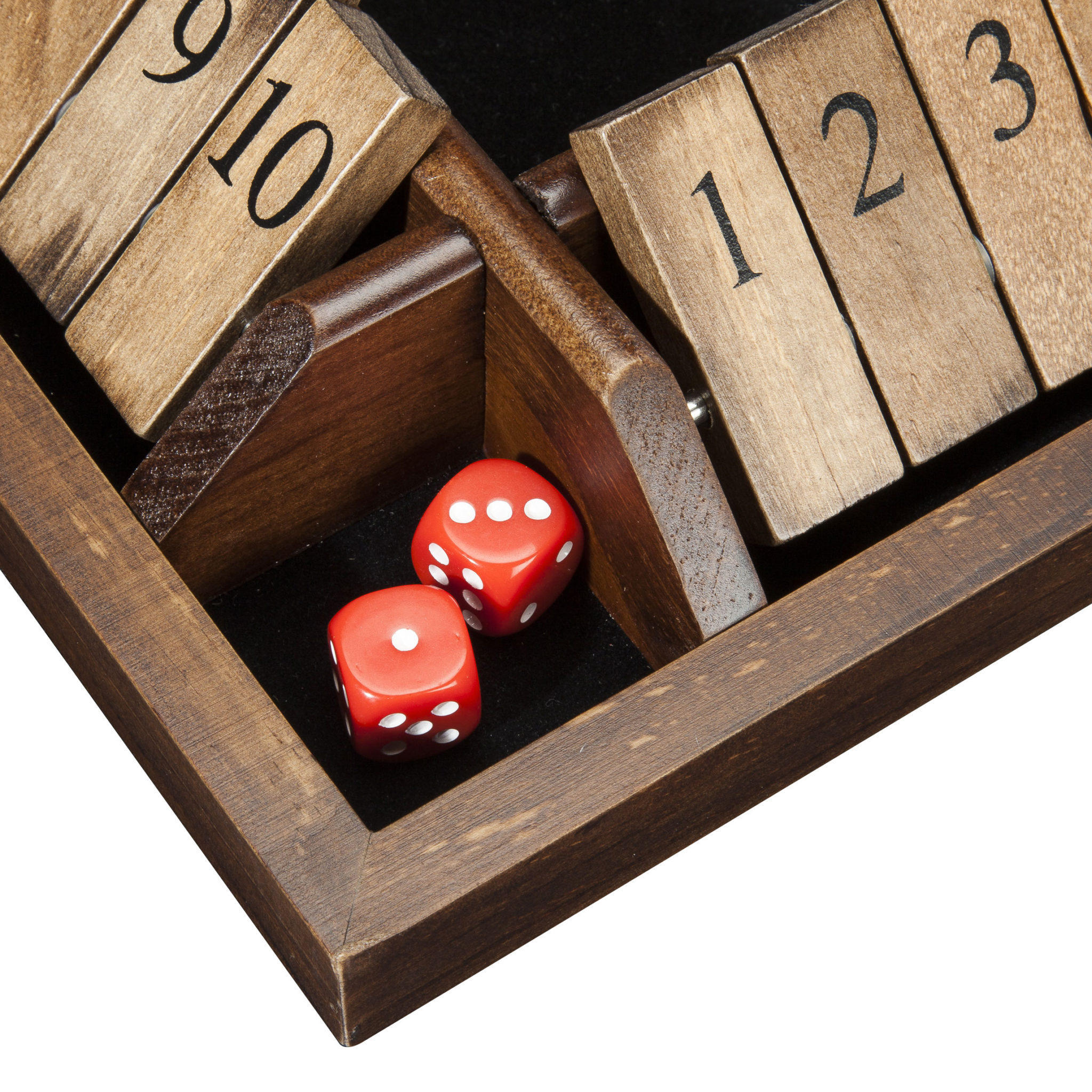 We Games 4 Player Shut The Box Travel Size 8 Inches