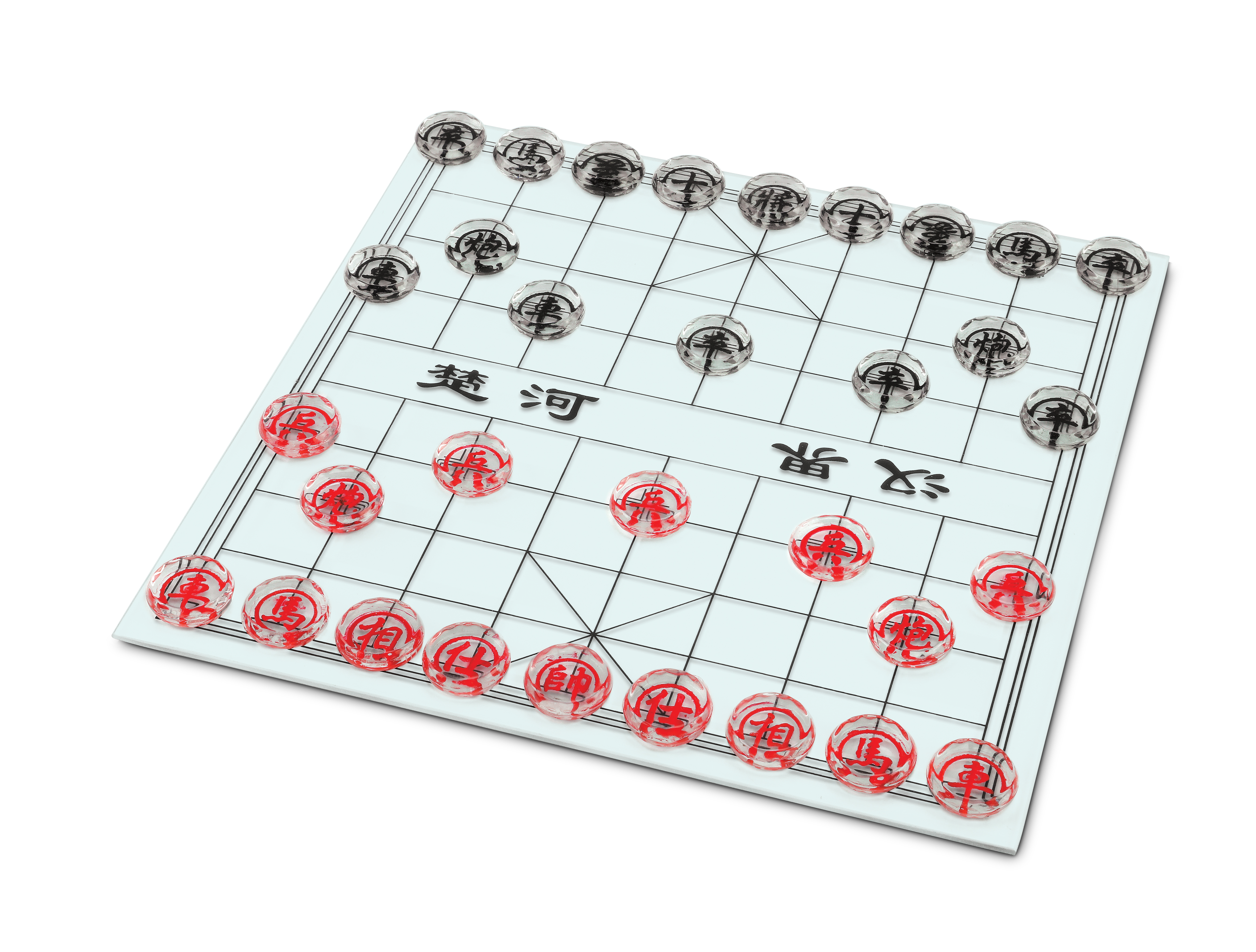 We Games Glass Chinese Chess Set Xiangqi Wood Expressions