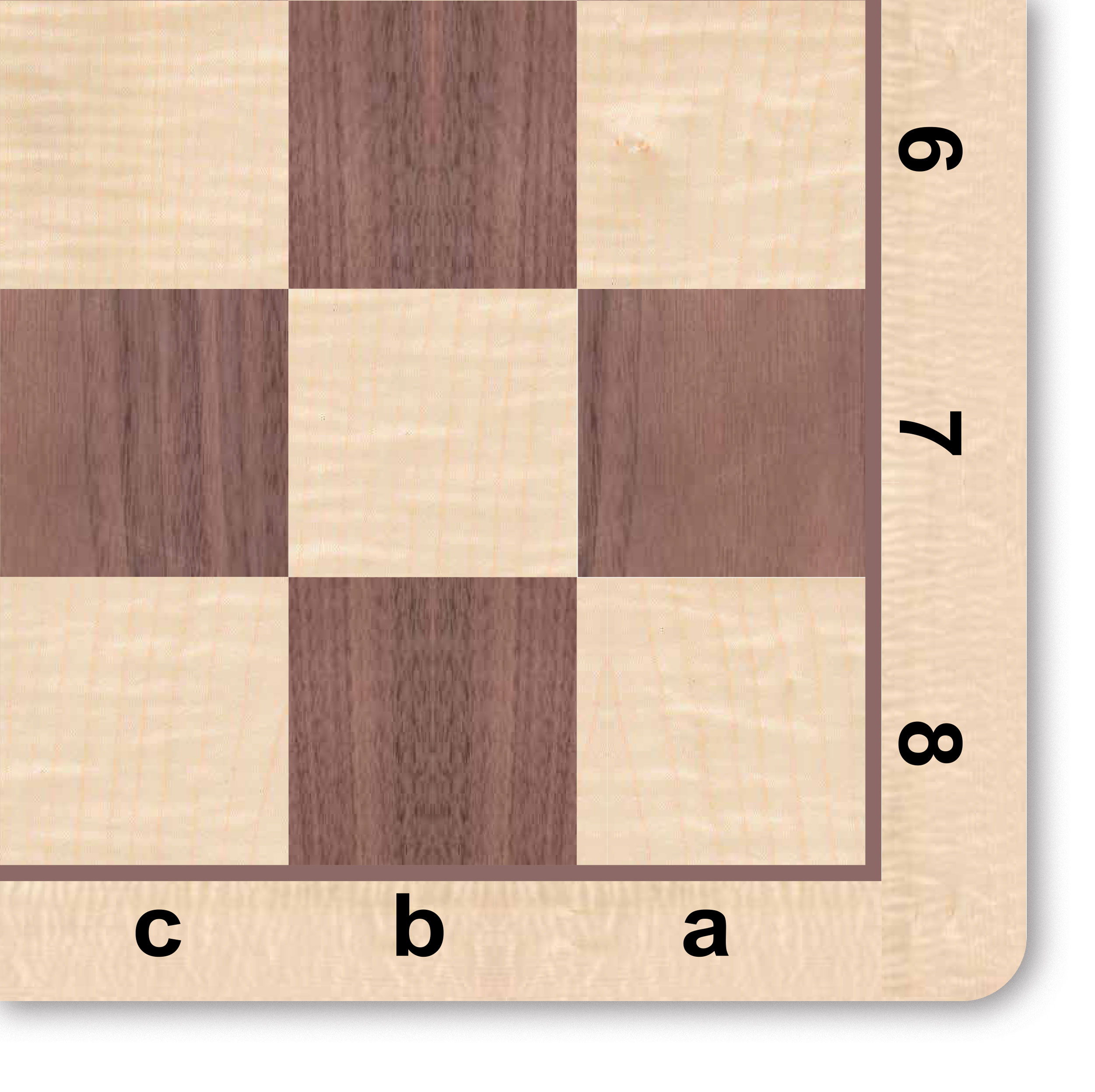 made in USA 20 inches WE Games Walnut /& Maple Wood Grain Mousepad Chessboard