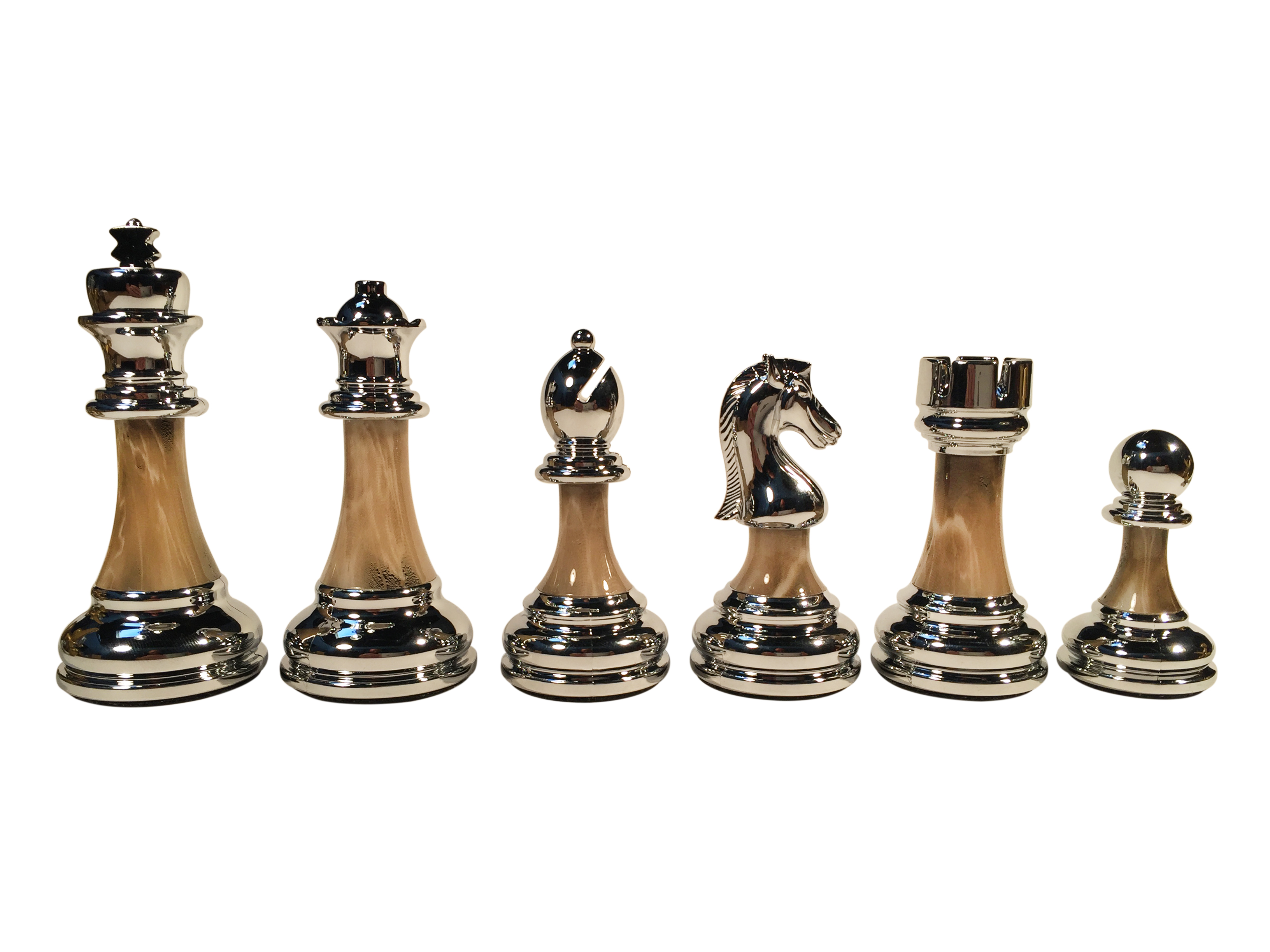 The Bobby Fischer 174 Series Metal Amp Acrylic Chess Pieces 3