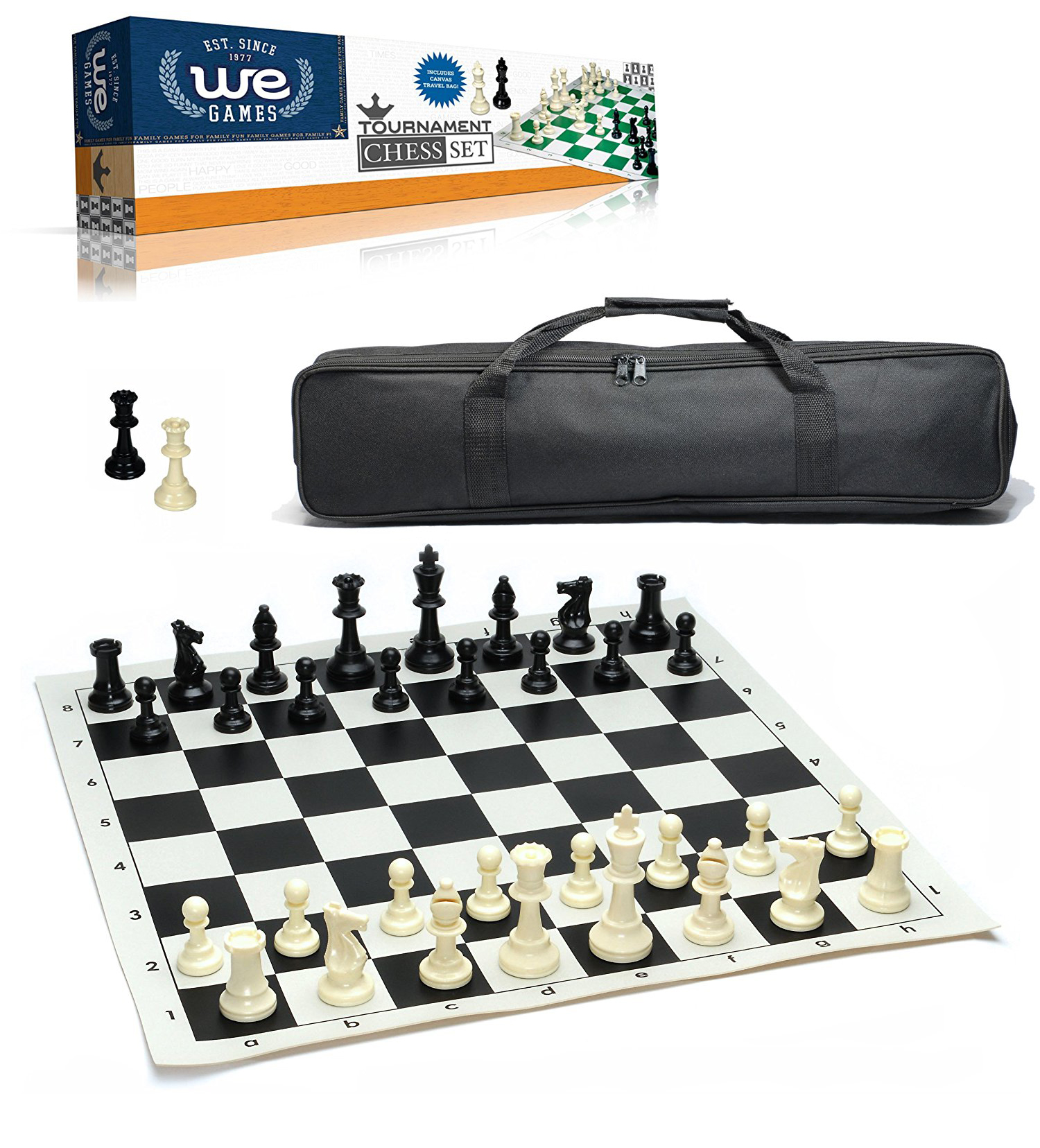STANDARD CHESS PIECES BOARD DELUXE BAG TOURNAMENT SET