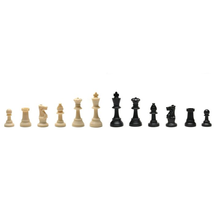 Black Tournament Roll-Up Staunton Chess Set w// Travel Canvas Bag