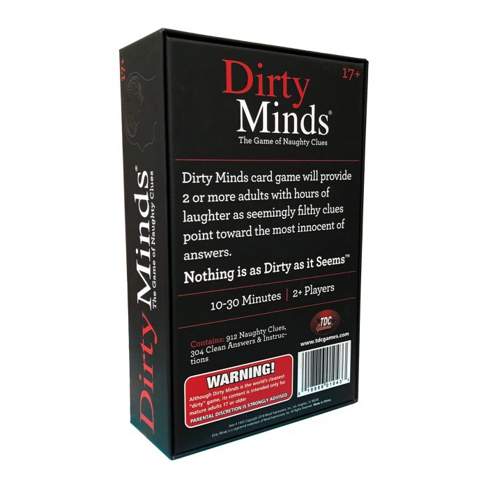 Dirty Minds Original with new packaging
