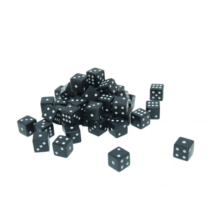 Black dice 100 bulk pack set