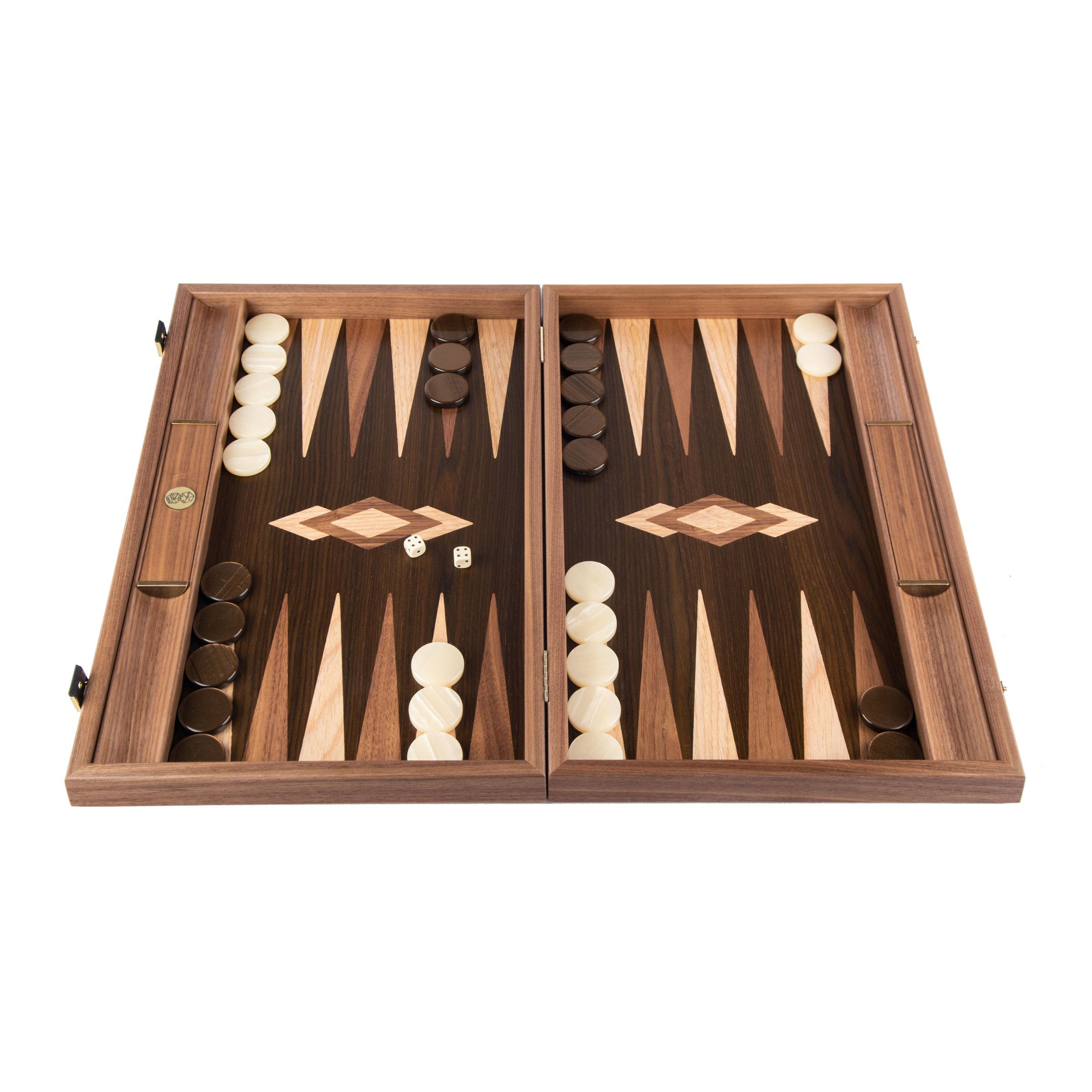 Walnut tree truck backgammon set 19 inches